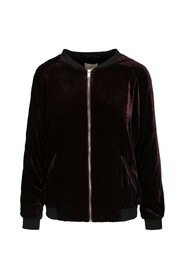Liva bomber jacket burgundy velor jacket