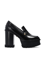 Heeled pumps with logo