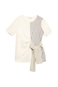 T-shirt With Striped Inserts