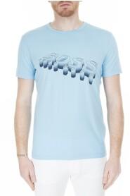 Tröja man med Hugo Boss logotyp - hugo-boss, ljusblå, XL