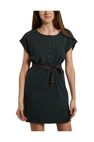 Debbie cotton and linen belted dress