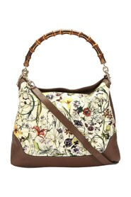 Pre-owned Bamboo Flora Diana Canvas Satchel