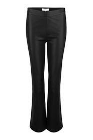 Tyson Crop Flare Leather Pants Bukse