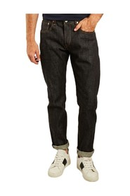 Raw regular tapered jeans