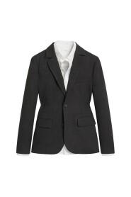 Herringbone kostym blazer