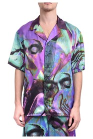 Camicia whit mask fluid all over