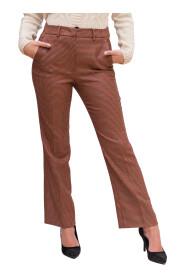 Pantaloni in batavia di lana