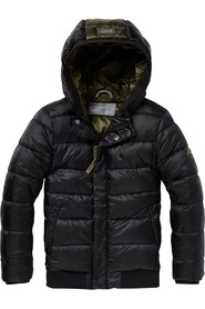 Scotch Shrunk Hooded Puffer Jacket Black