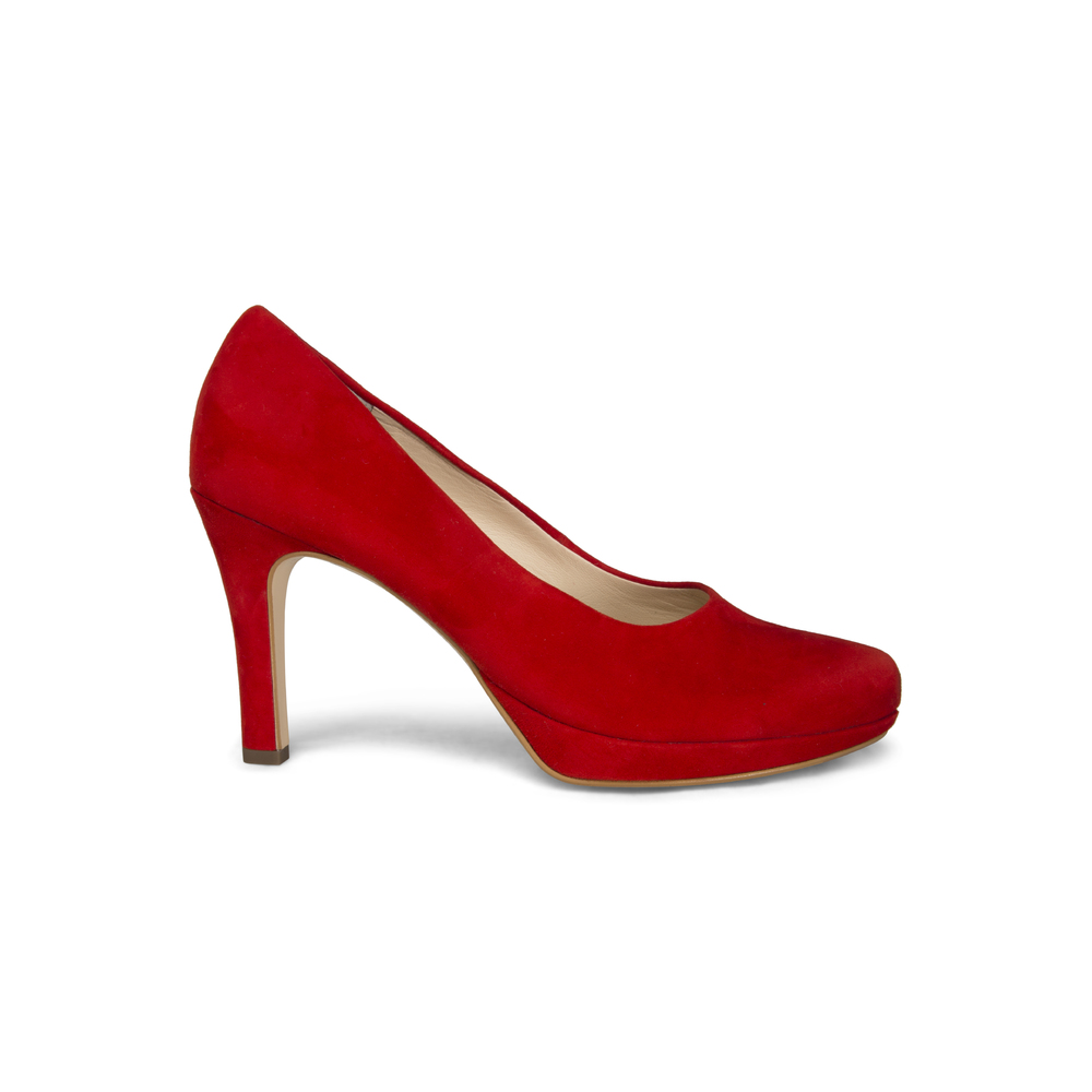 Paul Green Red Red Suede Pump