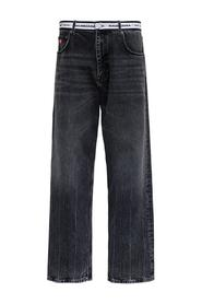 Denim Jeans with Logo Band