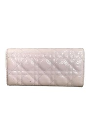 Cannage Patent Leather Wallet On Chain