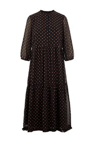 Tiered maxi dress Polka-dot