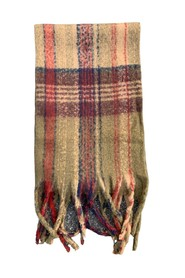 Fluffy Check Scarf Sjal