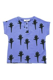 KNAST by KRUTTER - Villum Tee SS, Hands On A Stick - Dusty Blue