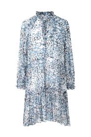 Clouds LS Midi Dress Faded Denim