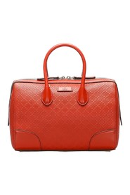 Bright Diamante Leather Satchel