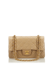 Classic Small Lambskin Leather Double Flap Bag