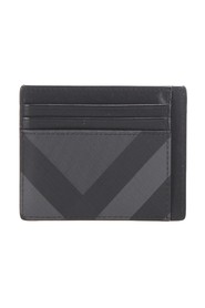 Mega Check Coated Canvas Card Holder