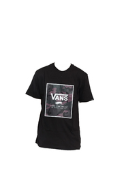 Sort Vans Print Box Oversized T-Skjorte