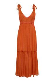 Oranssi Gestuz-pitkä mekko