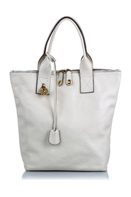 Leather Skull Padlock Tote