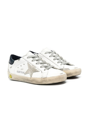 SUPERSTAR LEATHER UPPER AND HEEL SUEDE STAR SNEAKERS