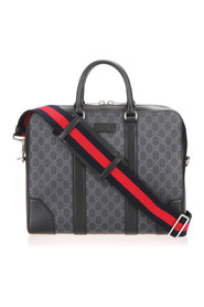 GG Supreme Web Business Bag Fabric Coated Canvas