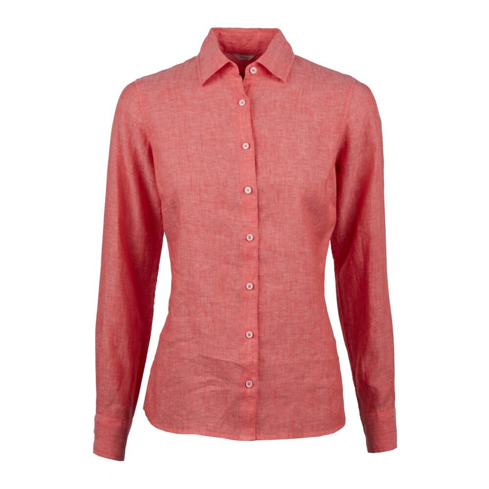 Red 154421 Regular drapey shirt in seasonal patterns  Amsterdams Blauw  Skjortor