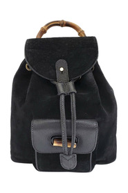 Pre-owned Bamboo Suede Backpack Leather