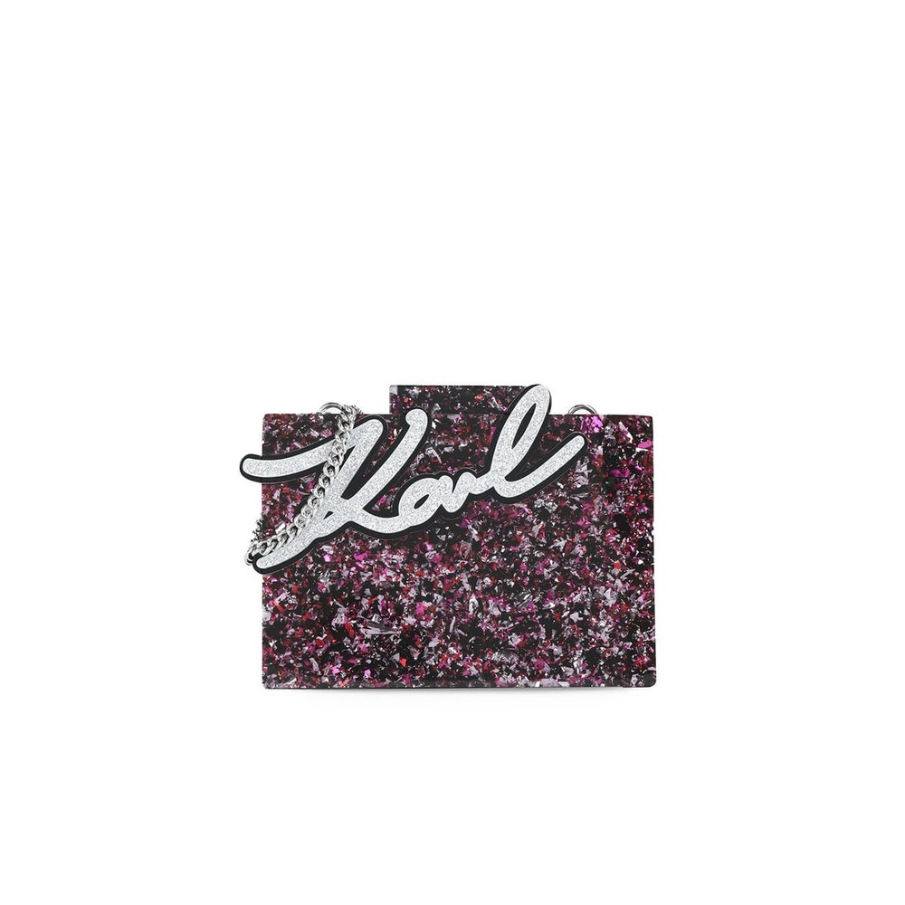 MULTICOLORED K/SHINE CLUTCH BAG