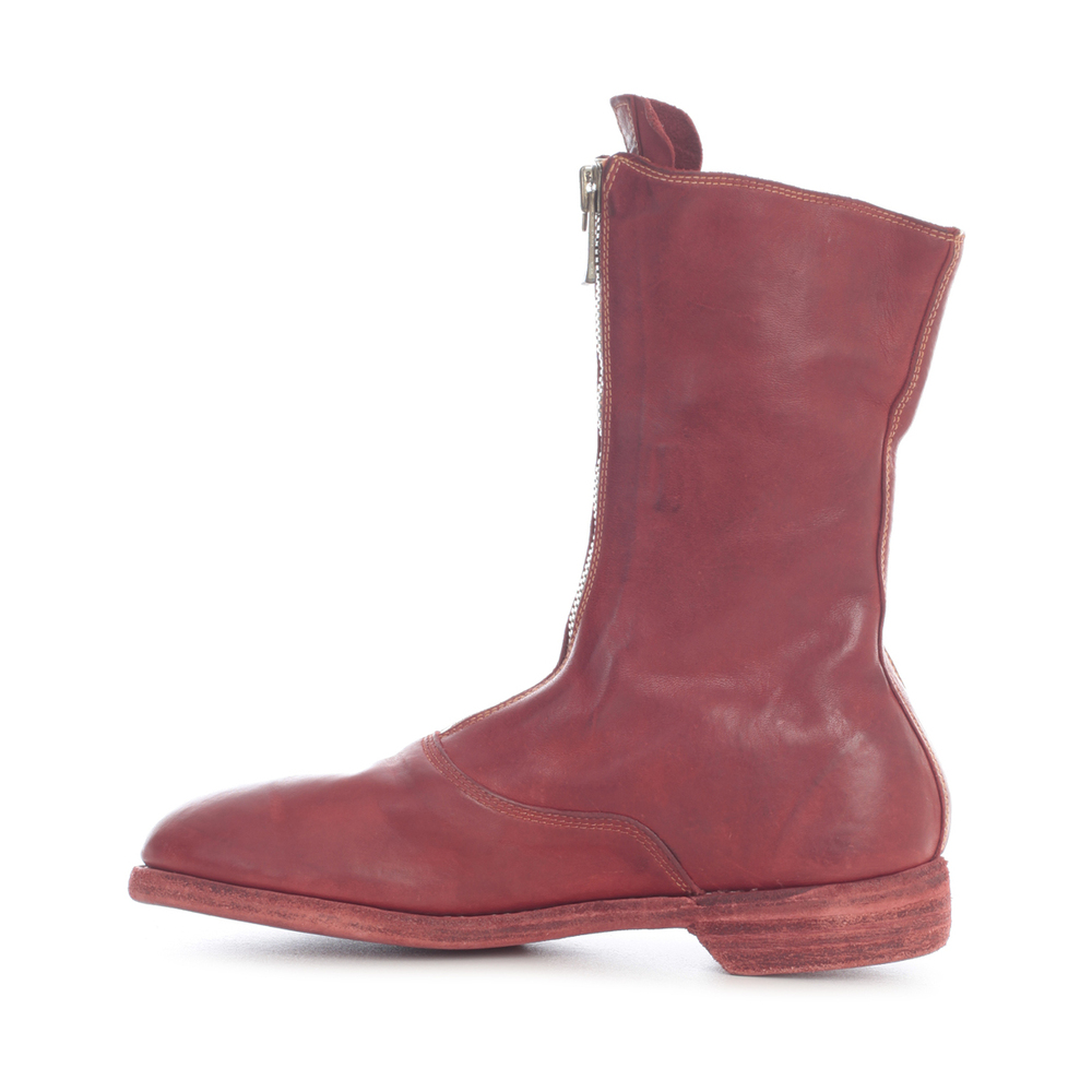 Guidi RED FRONT ZIP SOLE LEATHER Guidi