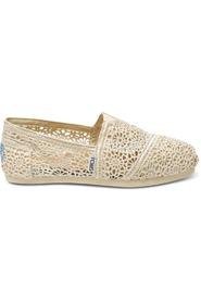 Offwhite Moroccan Toms Crochet Loafer