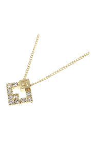 G Logo Rhinestone Necklace