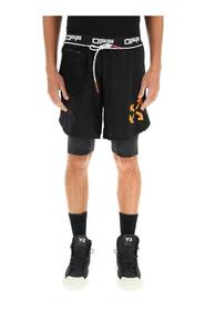 DOUBLE LAYER ACTIVE SHORTS
