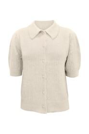 Petrine 2/4 Shirt Collar Cardigan
