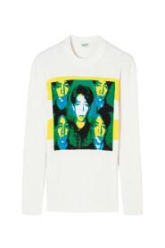 Koszulka Kenzo Ryuichi Sakamoto - Blanco,