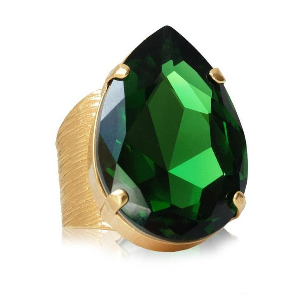 Caroline Svedbom Perfect Drop Ring moss green
