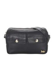 Begagnade Carriage Shoulder Bag Leather Calf