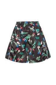 Floral-detailed track shorts