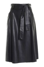 BELT SKIRT IN BLACK