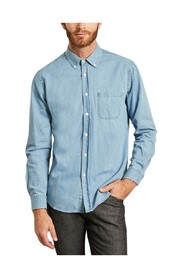 Denim straight shirt