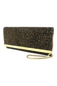 Milla Glitter Leather Wallet On Chain