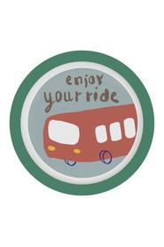 "Sebra tallerken med bus, ""Enjoy your ride"""