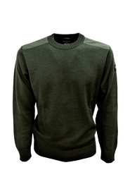 SWEATER WITH ROUND NECK PATCHES