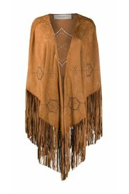 G36WP137A1 LEATHER PONCHO