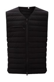 Down vest with logo