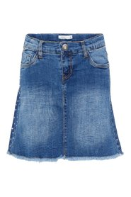 Denim skirt stud embellished
