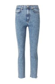 High-Rise Cigarette Jeans
