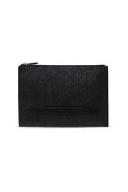 Logo-embossed clutch