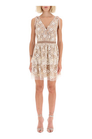 mini dress with sequin flowers